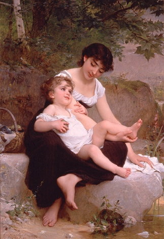 Émile_Munier,_1892_-_Mother_and_child