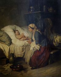800px-Wilhelm_Alexander_Meyerheim_Mother_and_baby_in_an_interior