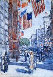 Hassam,_Flags,_fifth_avenue